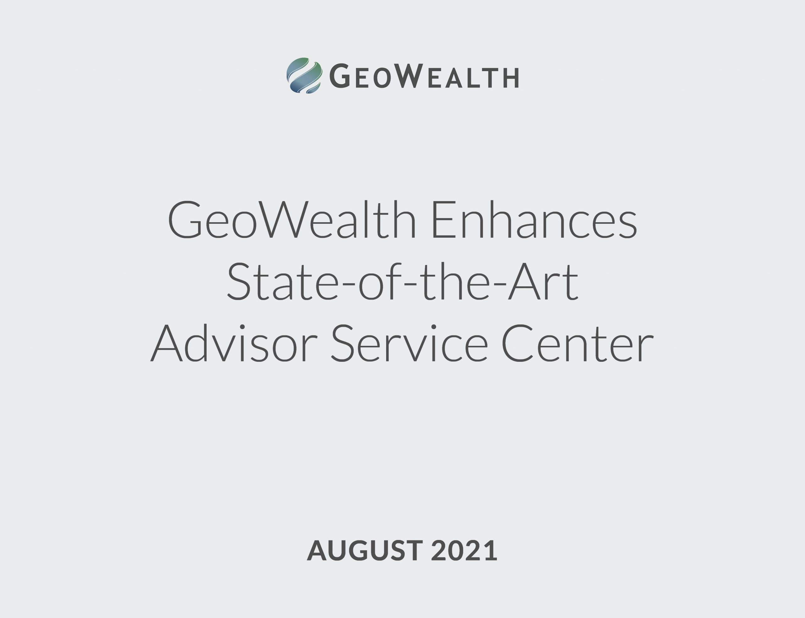 GeoWealth Advisor Service Center