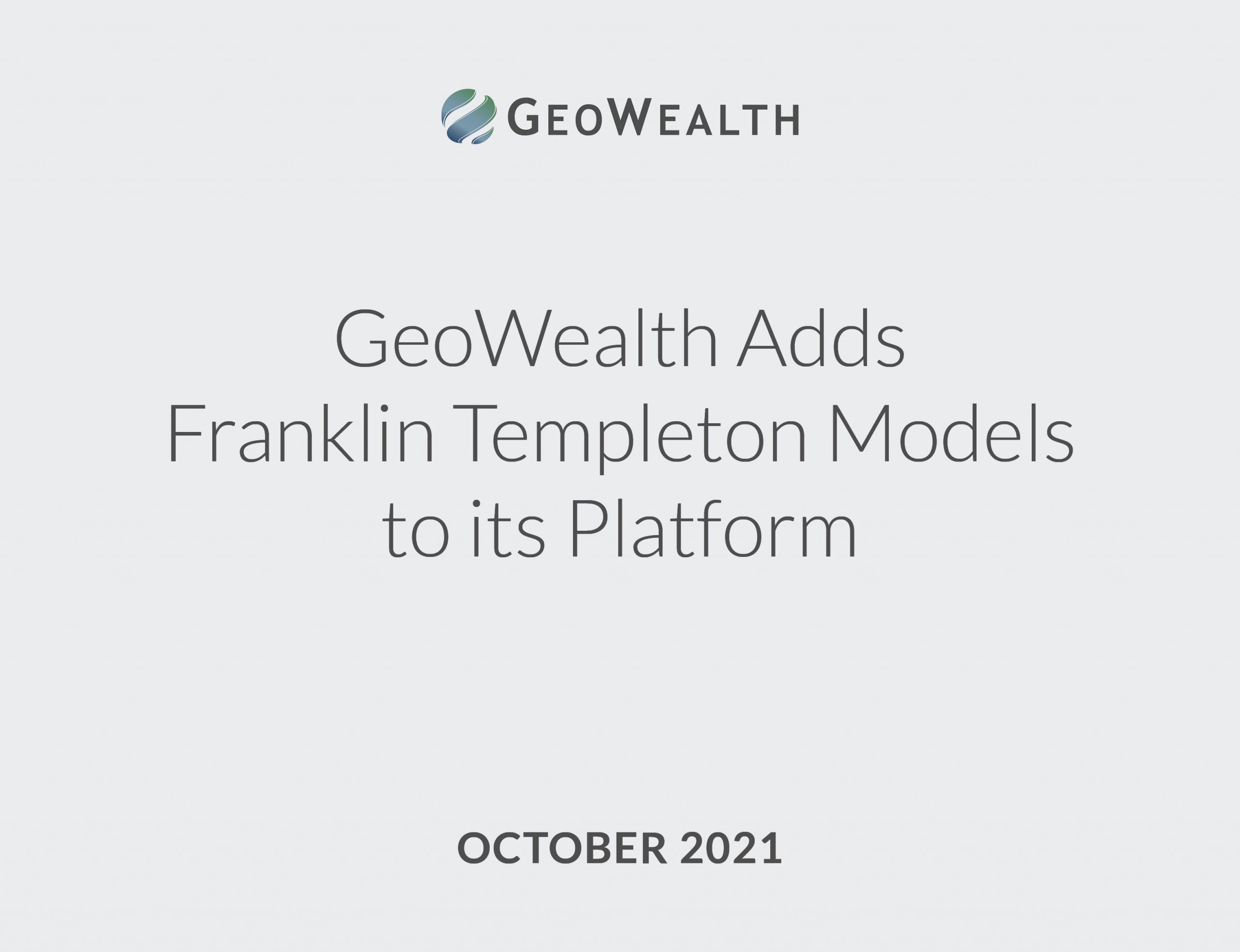 GeoWealth Franklin Templeton